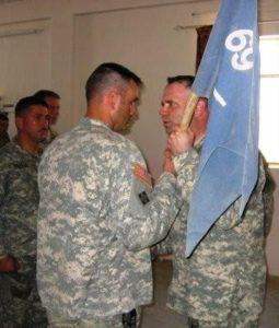 Giving Command of my A company in Al Handiya, Iraq