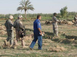 Mike On Patrol with Iraqi Police Abu Bali, Iraq