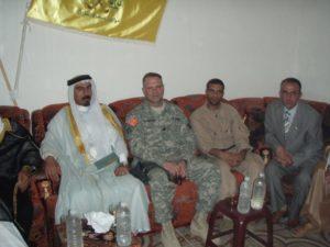 Mike with Sheik Sittar Abu Risha--leader of the Awakening Movement